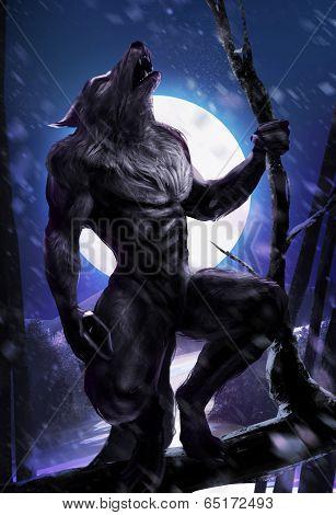Werewolf pose