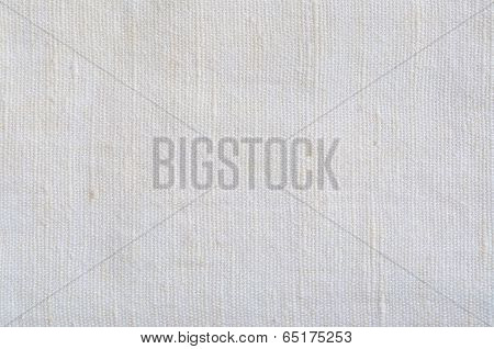 Natural Bright White Flax Fiber Linen Texture Detailed Macro Closeup rustic crumpled vintage textured fabric burlap canvas pattern vertical beige copy space poster