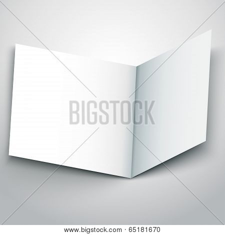 Vector Illustration Of Blank White Flyer