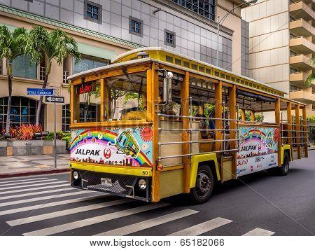 Waikiki Trolley bus