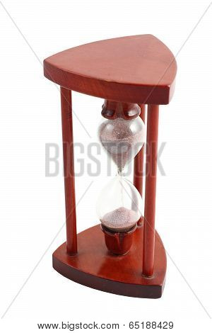 Isolated Wooden Hourglass