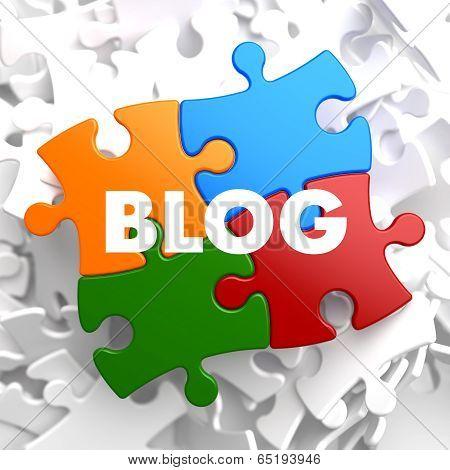 Blog - Multicolored Puzzle on White