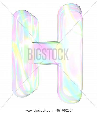 Rainbow alphabet-H