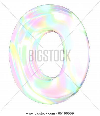 Rainbow alphabet-O