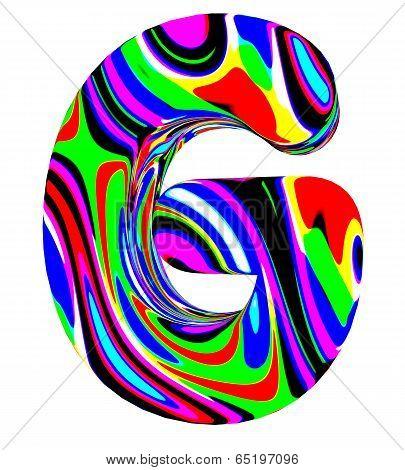 Psychedelic alphabet-G