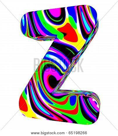 Psychedelic alphabet-Z