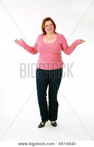 Funny Full Length Of Large Woman
