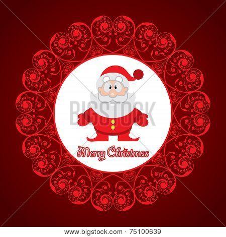 creative greeting card for christmas stock vector