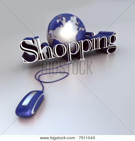 Global Shopping In Blue