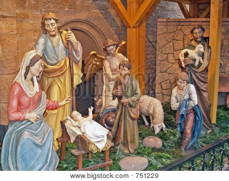 Details of nativity scene