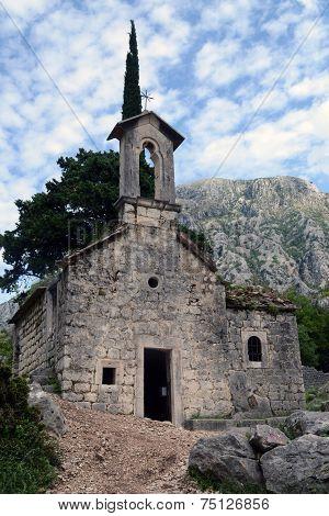 Ruins Of Ancient Church In Kotor, Montenegro