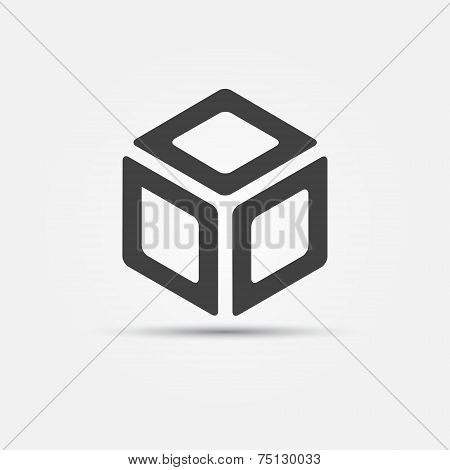 Vector cube icon