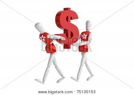 Hongkong Dollas Currency White Man
