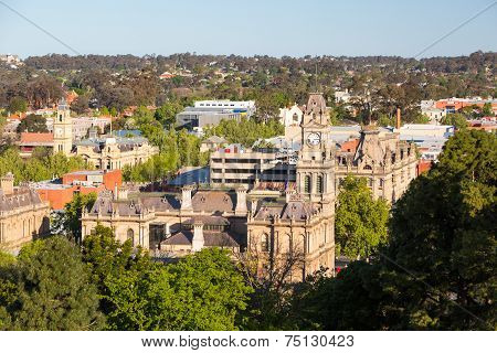View over Bendigo Town Hall