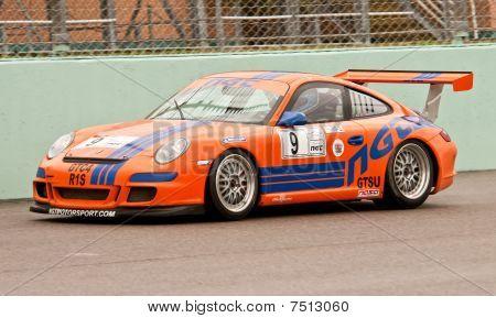 Race Car Accelerates