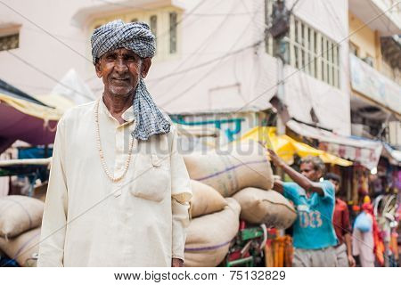 A Hindu Pilgrim in Haridwar, India.