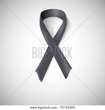 Black ribbon loop.