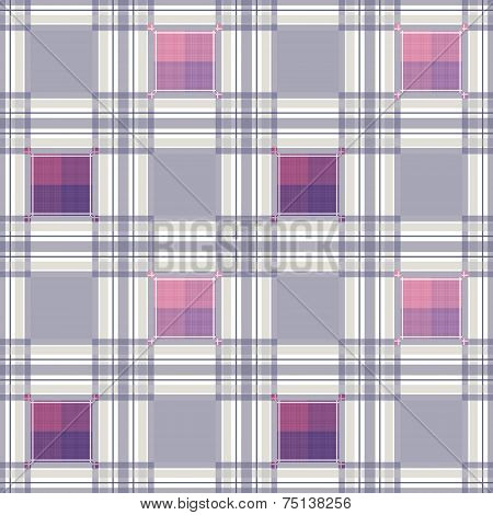Seamless retro textile tartan checkered texture plaid pattern background poster