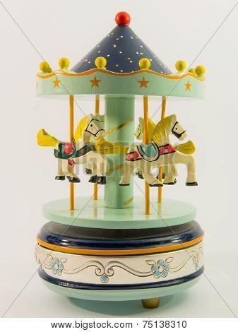 Sky Blue Merry-go-round Horse Carillon
