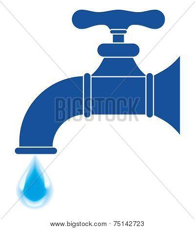 Faucet Silhouette - Illustration