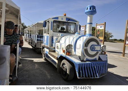 Tourist Train To Visit The Salt Business Of Aigues-mortes
