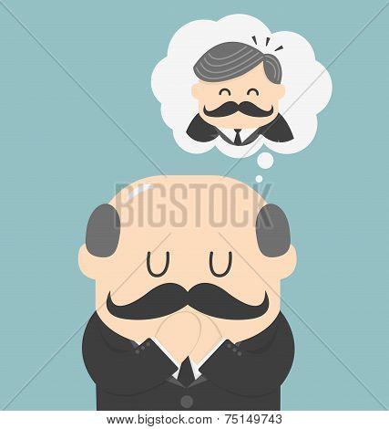 Dreams Of Bald Men Vector