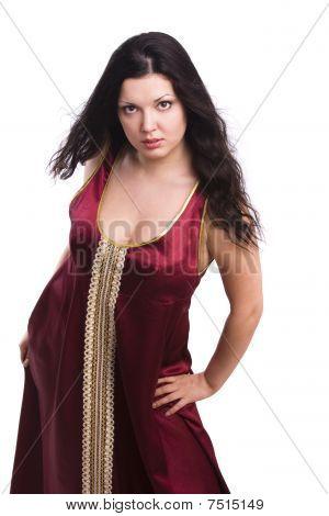 Woman Wearing A Sexy Nightie