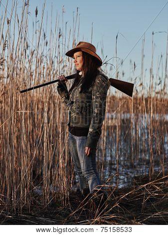 Female Duck Hunter