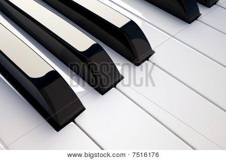 Keyboard Piano Detail