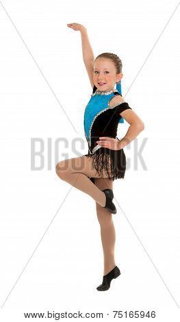 Jazz Dancing Girl Mid Step