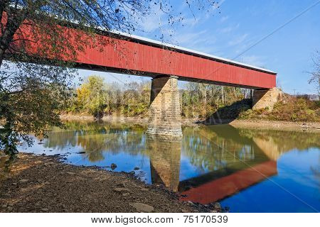 Long Red Covered Bridge