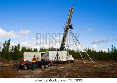 Diamond Core Drilling Looking For Minerals