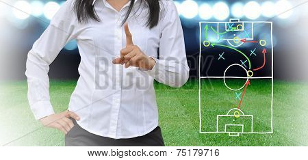Plan Of Soccer Manager At Soccer Field