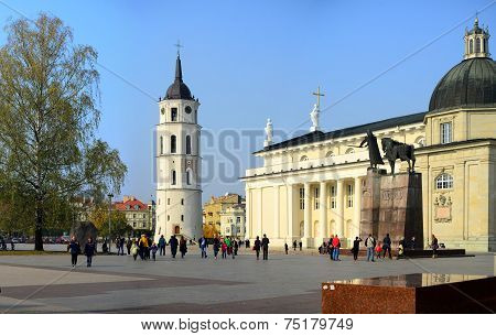 Vilnius Cathedral Is Main Church Of Lithuania