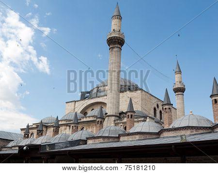 Mevlana museum mosque in Konya. Anatolia, Turkey poster