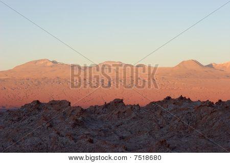 Atacama Desert At Sunset, Chile