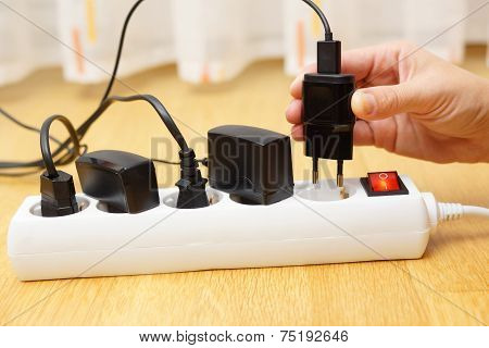 Woman Unplugged Plug To Save On Energy