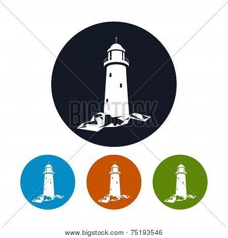 Lighthouse icon, vector illustration