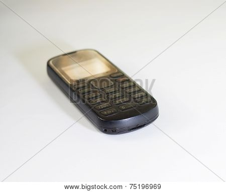 Old Cellphone Isolated On White Background