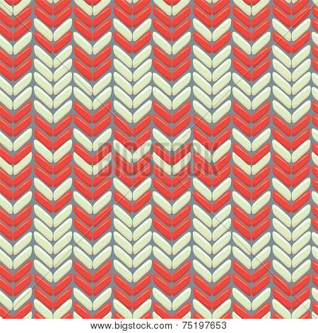 Knitted wool colorfull seamless pattern with ornament poster