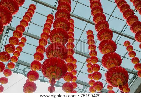 Chinese Lantern Hanging From The Top