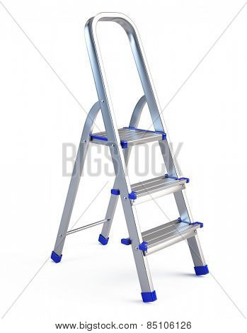Step ladder isolated on white