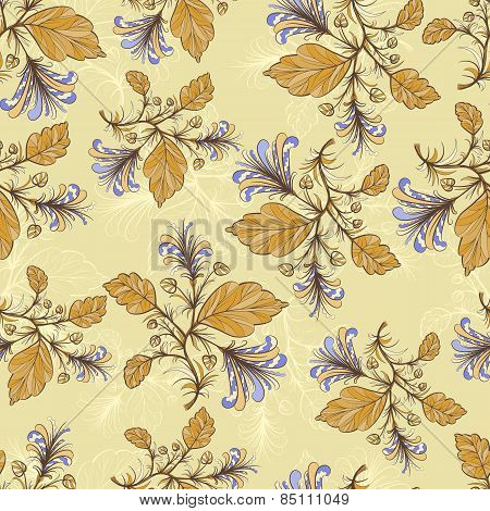 Vintage floral pattern.Vector illustration.
