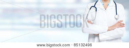 Medical physician doctor hands. Healthcare background banner. poster