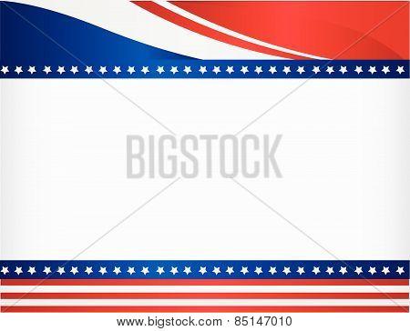 American / USA grunge patriotic frame