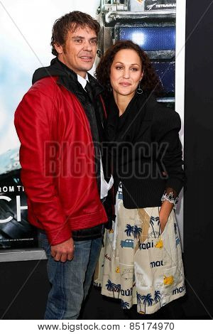 NEW YORK-MAR 4: Actor Brandon Auret (L) and guest attend the premiere of