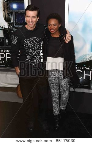 NEW YORK-MAR 4: Actor Sharlto Copley (L) and guest attend the premiere of