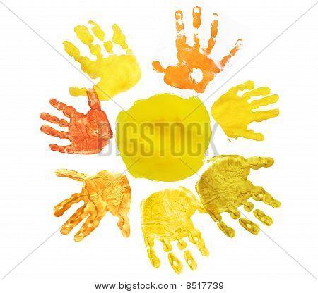 Sunshine Made Hand Prints
