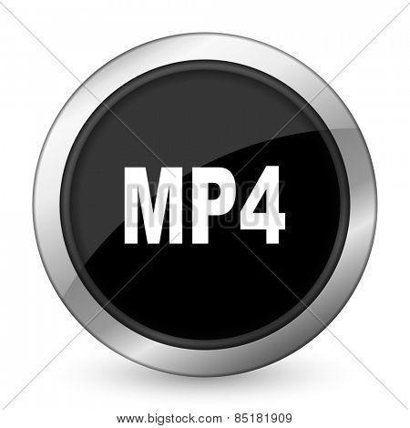mp4 black icon