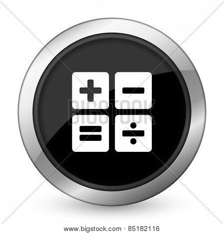 calculator black icon calc sign